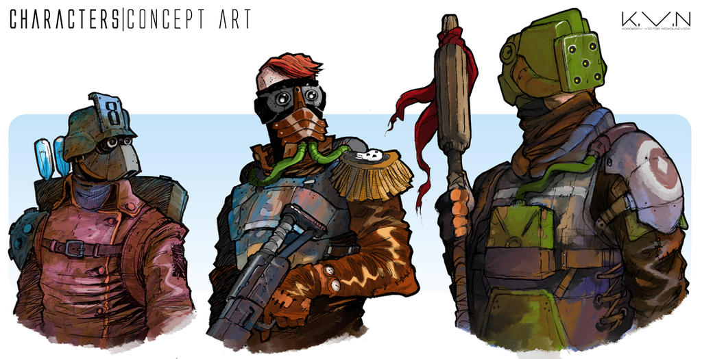 Characters design by Pino44io