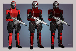 Soldier 1 Variants   Commission by Pino44io