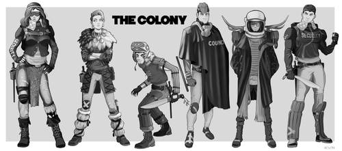 The Colony Characters | Commission by Pino44io