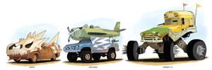 Post Apocalyptic Vehicles. Set 1 | Commission