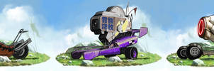 Postapocalyptic Vehicles. Set 6 | Commission