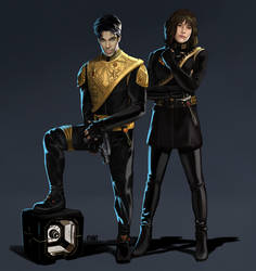 Captain Nelson Rogers and Commander Carmen Lucas