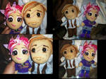 Tonks and Lupin plushies