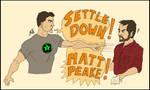 SETTLE DOWN MATT PEAKE!