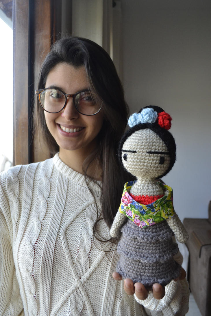 Amigurumi Monster Free Pattern : Frida Kahlo Amigurumi by gengibrecroche on DeviantArt
