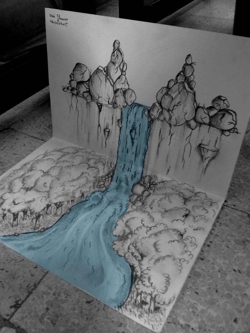 3d waterfall 3 not finished yet by ghassenouni on