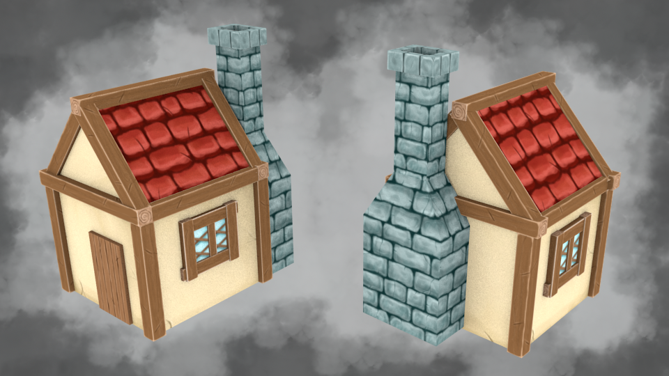 Handpainted House by Guizx
