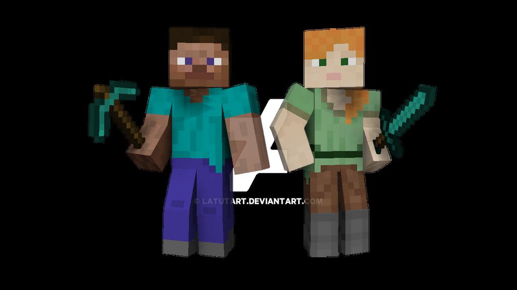 Minecraft Steve and Al...
