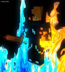 Double Fire boy render