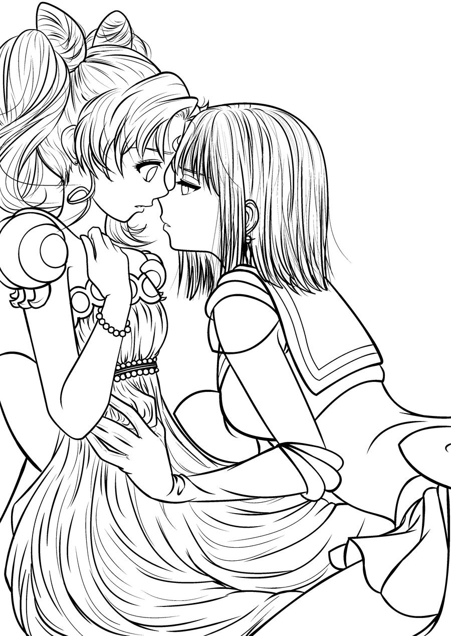 lesbian coloring pages - photo#2