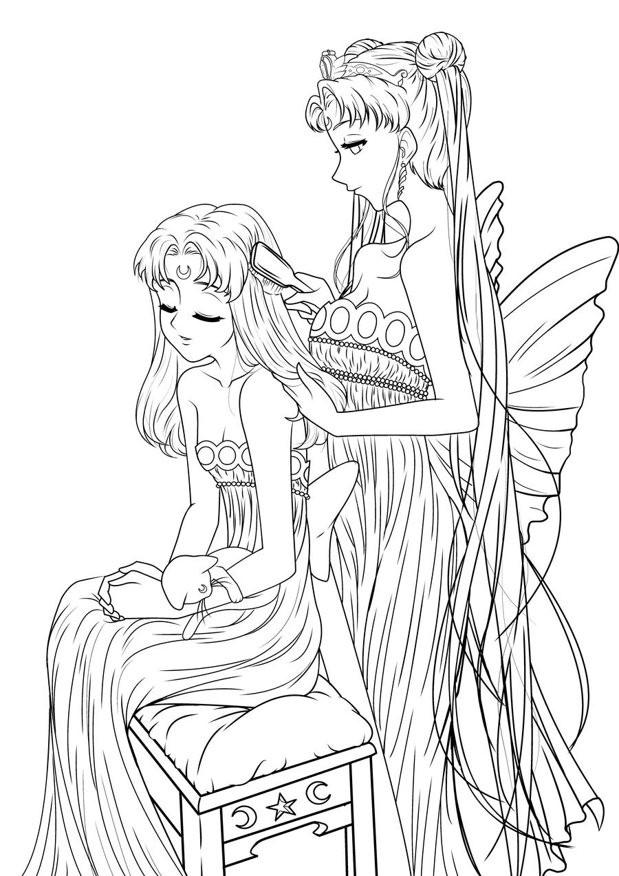 anime coloring pages deviantart art - photo#50