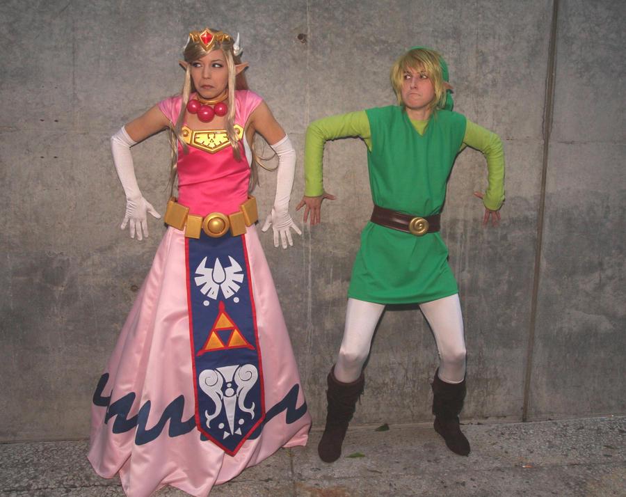 Link and Zelda 20000 Hits by akuriko