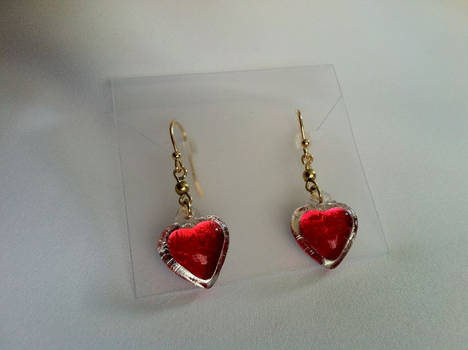 Heart Container Earrings - Gold Plated