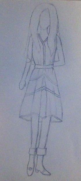 Dress Drawing by BlackDragona