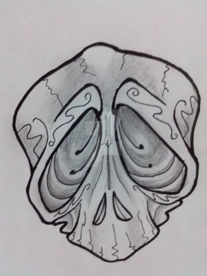 Skull Tattoo Sketch Design By Dark A Crystal On Deviantart
