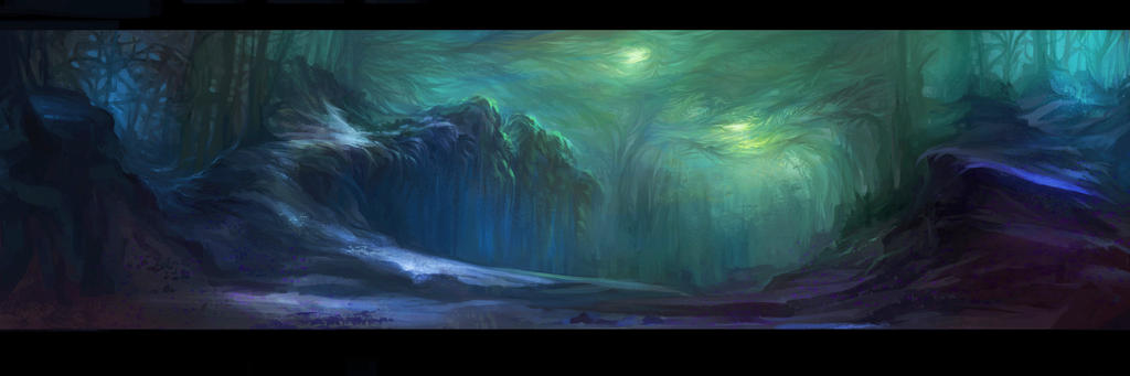 Alien Forest by hekatoncheir