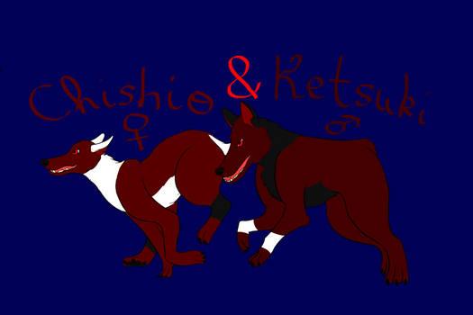 The 4th of Inktober: Ketsuki and Chishio!