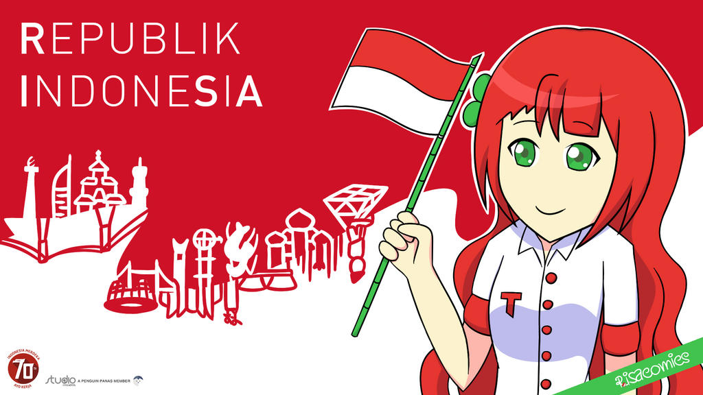 Republik IndoneSiA 70th anniv of independence by coananda
