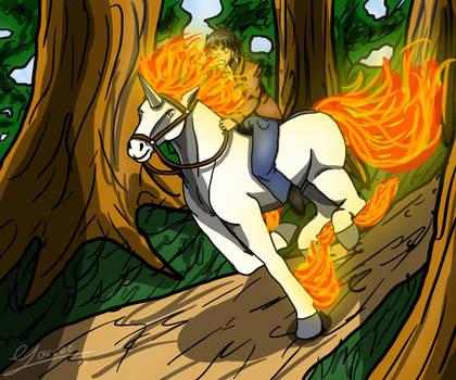 Gallop through the forest by DexterHorse