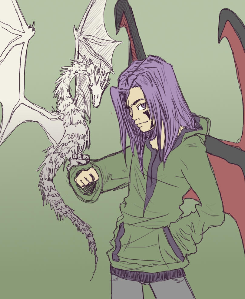 Aaron and his dragon by Kampfkewob