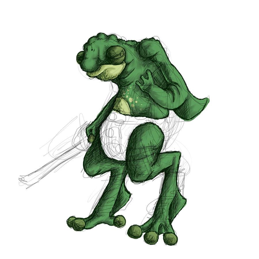 frog alien WIP by Kampfkewob