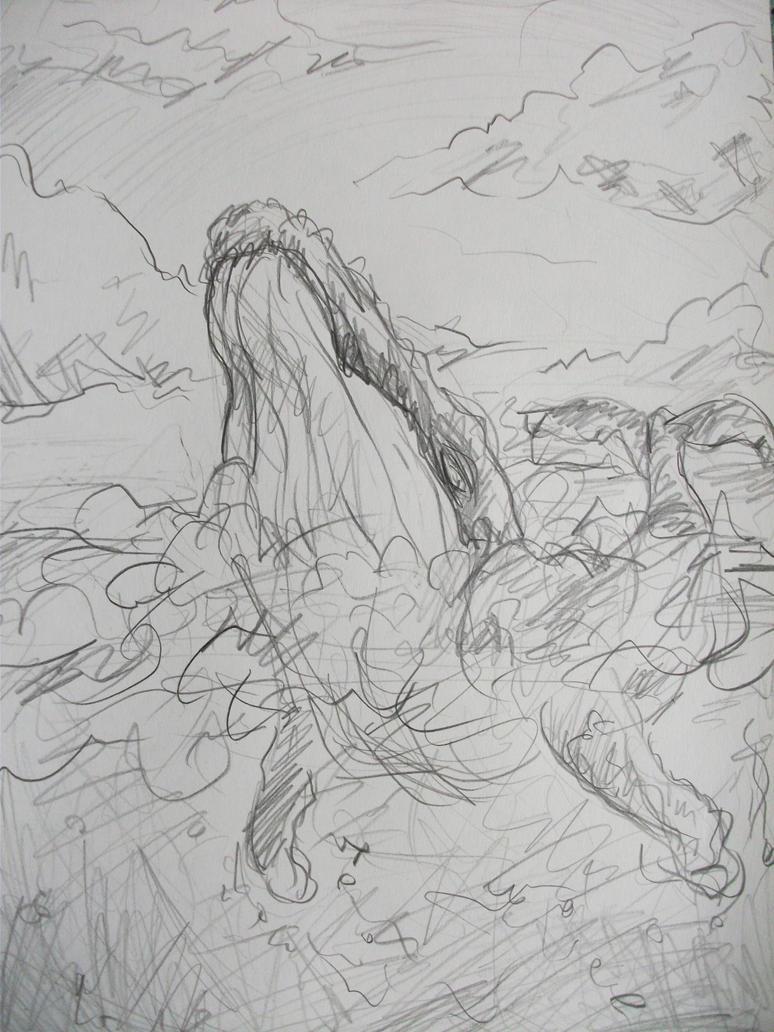 humpback whale sketch by Kampfkewob