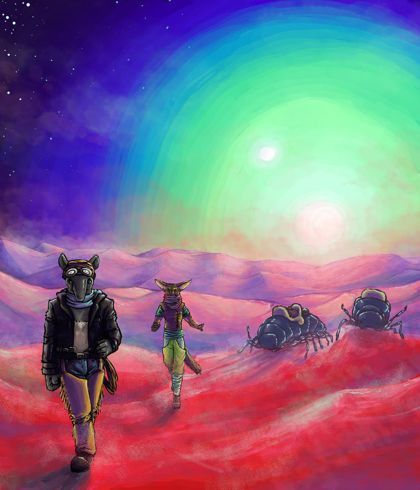 Desert on an other planet by Kampfkewob