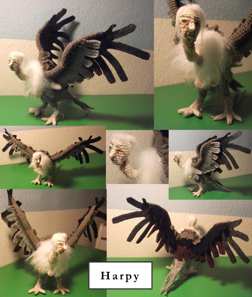 Harpy (crocheted) by Kampfkewob