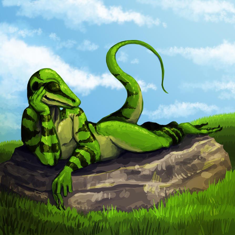 Sunbathing by Kampfkewob