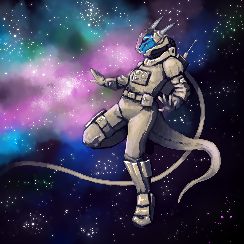 Tovuko in Space by Kampfkewob