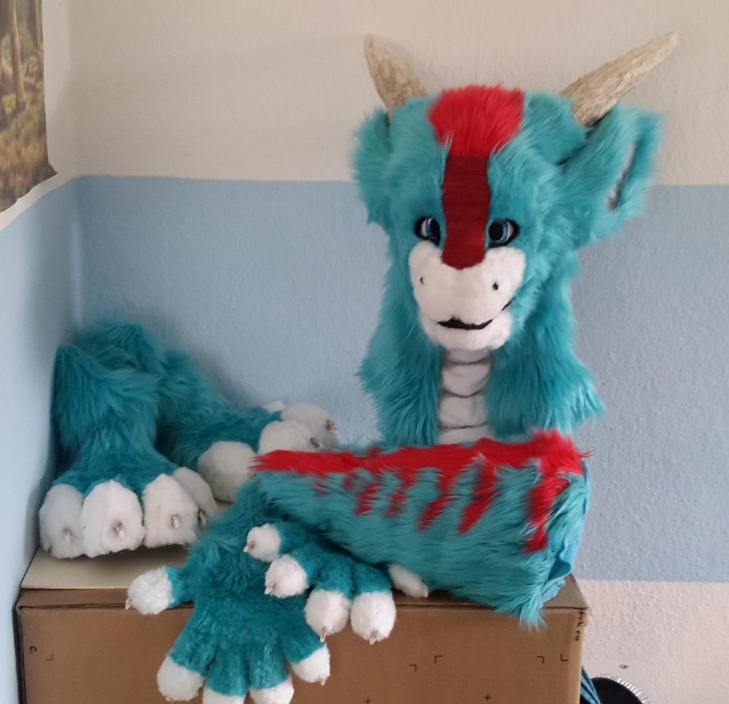 Dragon Fursuit (redo) by Kampfkewob