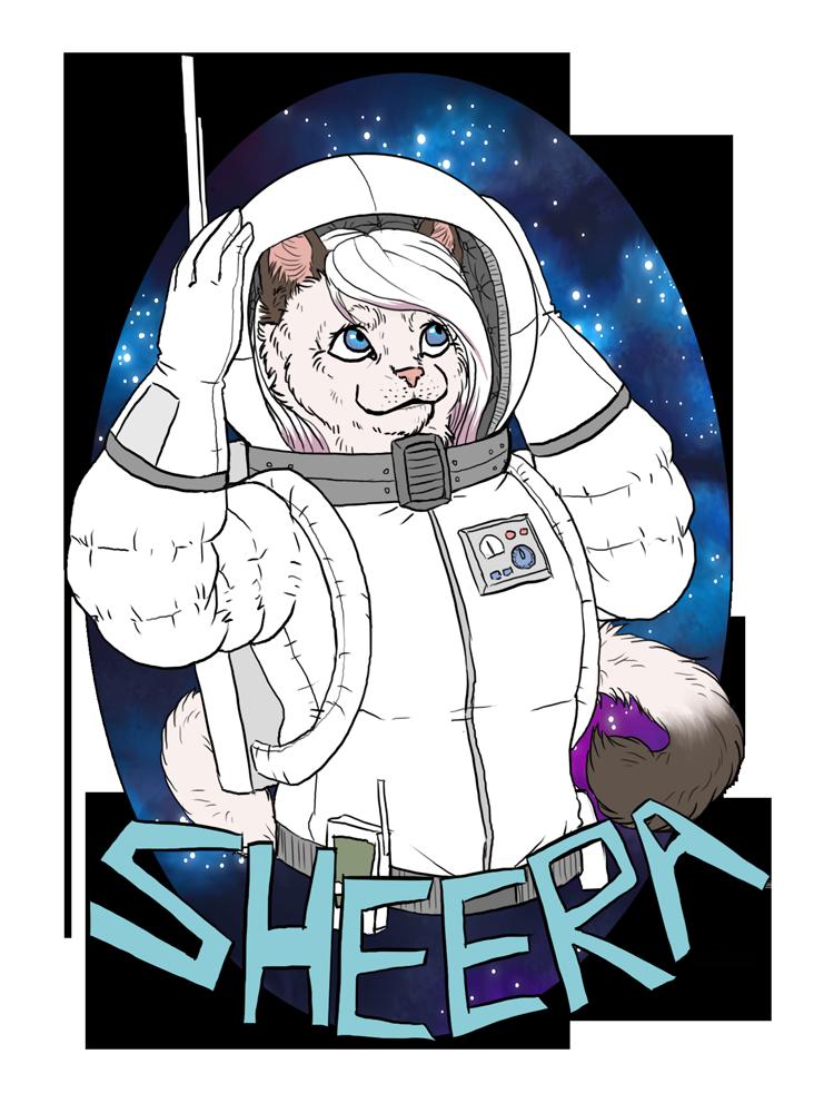 Sheera in Space by Kampfkewob