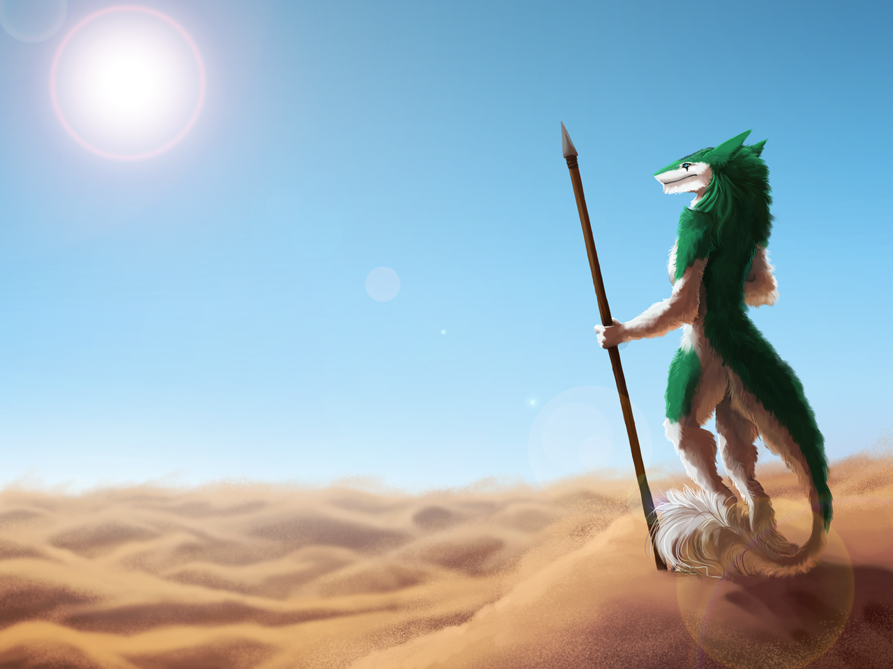 Desert Sun by Kampfkewob
