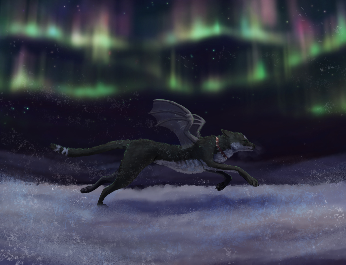 Running through the cold by Kampfkewob