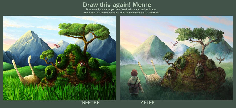 Homesnail - Draw this again by Kampfkewob