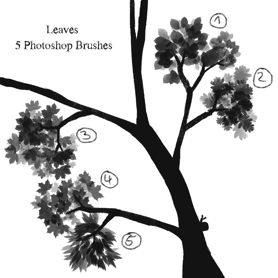 Leaves Brush Set by Kampfkewob