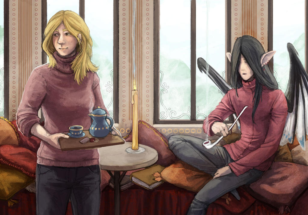 Warm Tea And Cold Weather by Kampfkewob