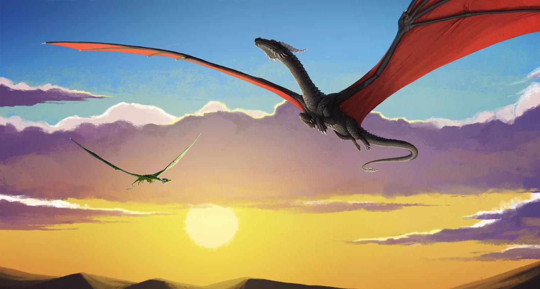 Sunset Dragons by Kampfkewob