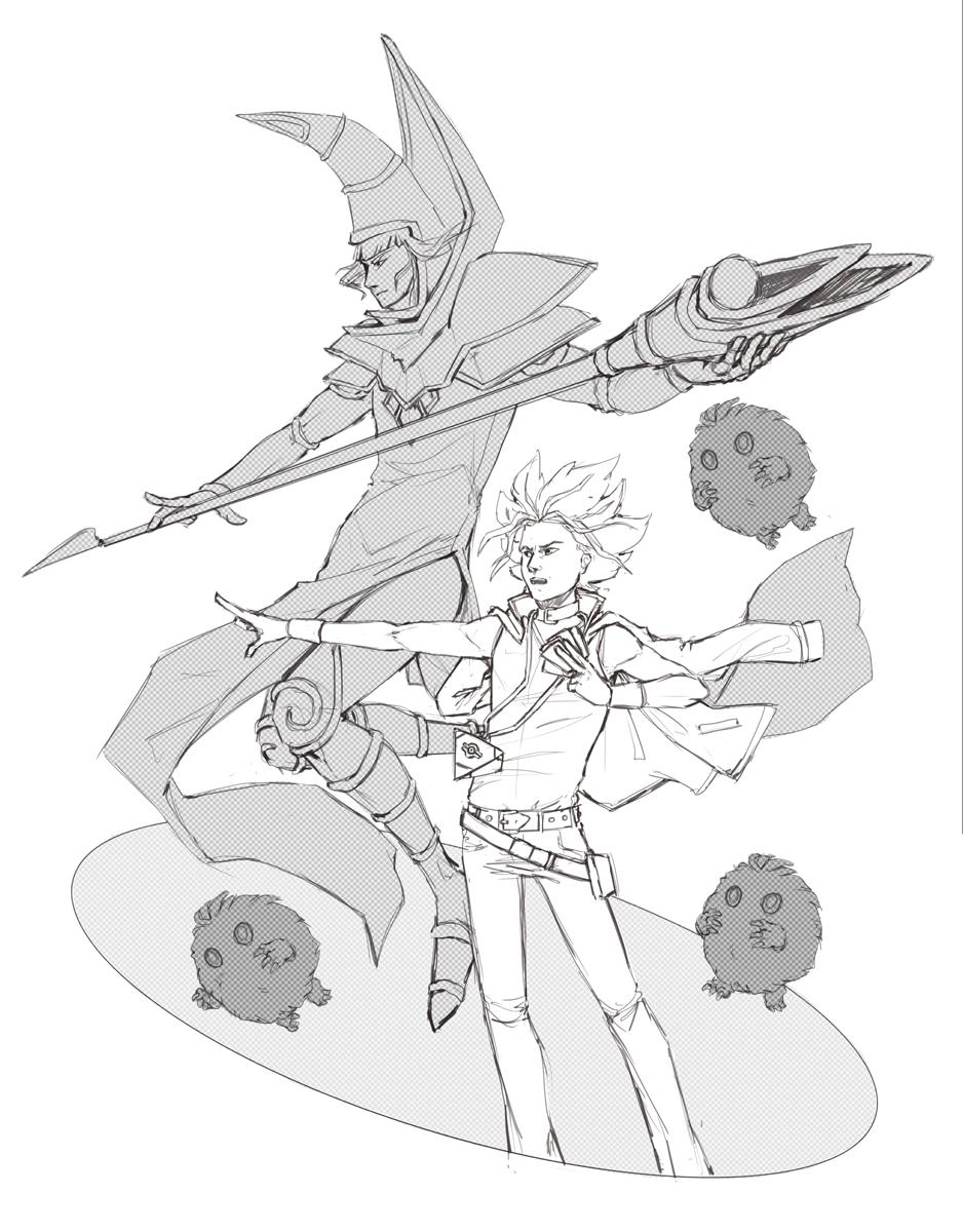 Duel Monsters [sketch] by Kampfkewob