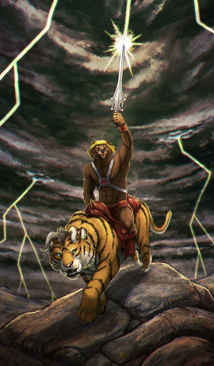 Battle-Cornieh and He-Bear by Kampfkewob