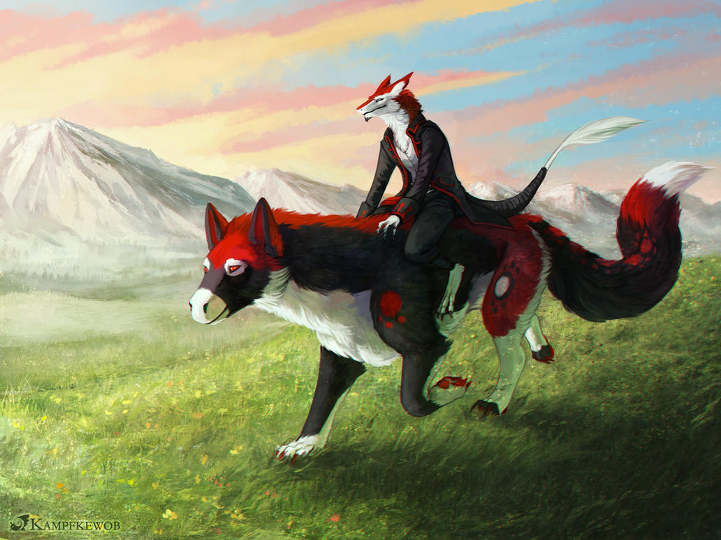 [Commission] An Early Ride by Kampfkewob