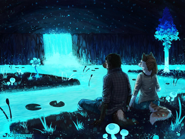 [Commission] Waterfall by Kampfkewob