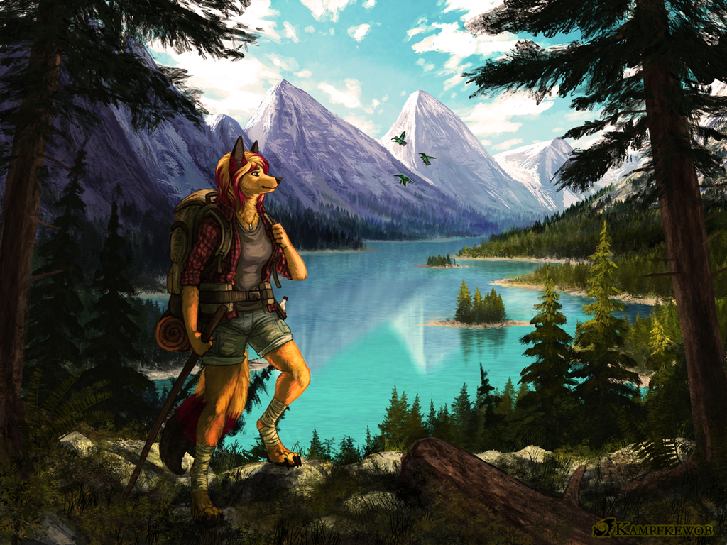 [Commission] Hiking by Kampfkewob