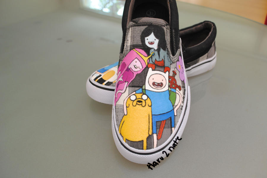 Adventure Time shoes 1 by haru2nate