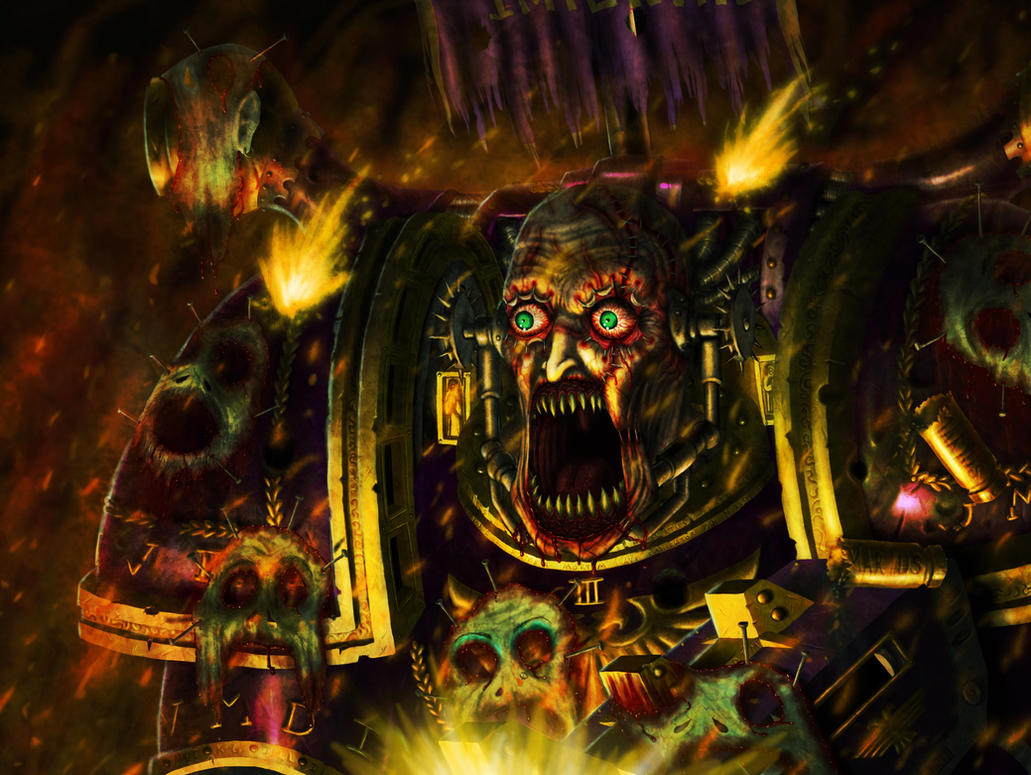[W40K] Collection d'images : Space Marines du Chaos The_first_noise_marine_by_nicknightshade-d3anjzl