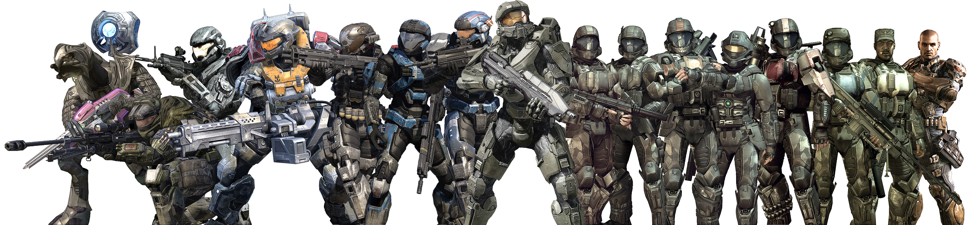Halo - Heroes Group RENDER 2 - BIG by Crussong