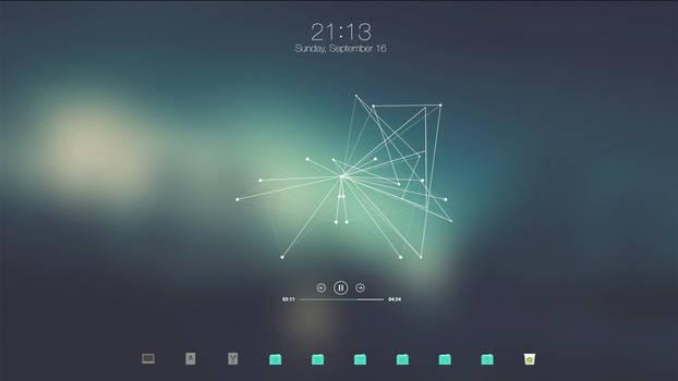 Cyan Desktop // September 2018