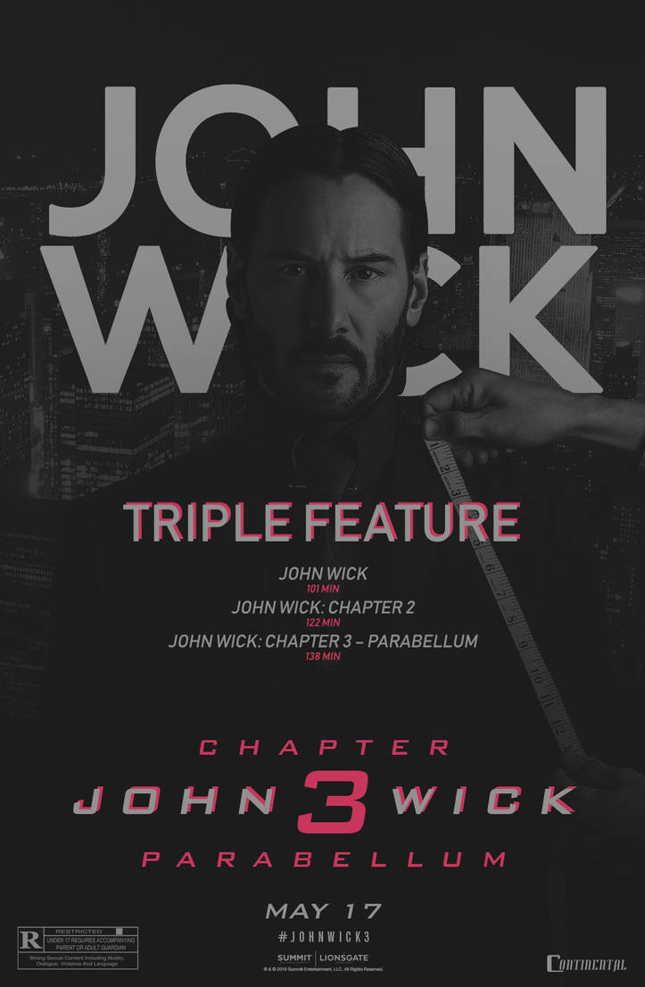 John Wick: TRIPLE FEATURE - Movieposter by Crussong on