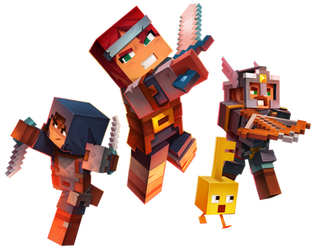 Minecraft Dungeons - Characters Render by Crussong