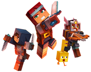 Minecraft Dungeons - Characters Render